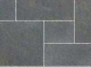 Natural stone paving: Limestone graphite tumbled 15.25mtr2 natural stone paving kit