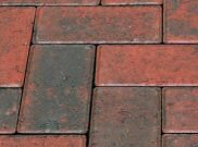 50mm pavers: Red brindle 50mm block paver