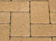 50mm pavers: Yellow 50mm block paver