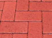 50mm pavers: Red 50mm block paver