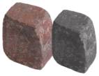 Paving accessories: Kl tumbled kerb 200mm x 100mm charcoal