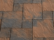 Patio paving kits dutch pattern: Dutch acorn brown 5.76mtr2 dutch pattern paving