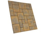 Patio paving kits random pattern: Chalice honey brown 5.76mtr2 random pattern