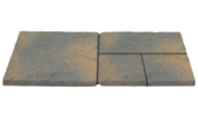 Patio paving kits super random pattern: Winter stone 7.61mtr2 super random pattern paving