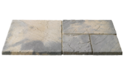 Patio paving kits super random pattern: Weathered buff 7.61mtr2 super random pattern paving