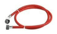 Plumbing fittings: Washing machine hose Red 1.5mtr