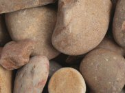 Cobbles rockery stones: Tweed cobbles 25kg 40 to 90mm