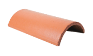 Roof slates tiles: Ridge tile half round red