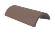 Roof slates tiles: Ridge tile half round grey