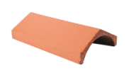 Roof slates tiles: Ridge tile universal angle red