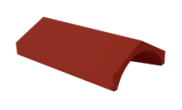 Roof slates tiles: Ridge tile universal angle brown
