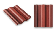 Roof slates tiles: Square top roof tile red