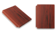 Roof slates tiles: Flat top roof tile red