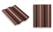 Roof slates tiles: Square top roof tile brown
