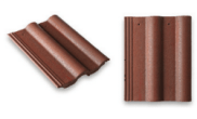 Roof slates tiles: Double roll top roof tile brown
