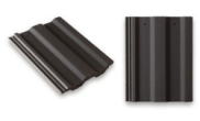 Roof slates tiles: Square top roof tile grey