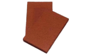 Roof slates tiles: Clay creasing tile plain red