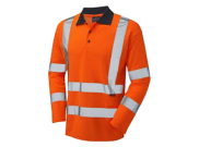 Safety wear: Safety hi vis polo shirt