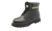 Safety wear: Hi top steel cap work boots black