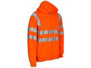 Safety wear: Hi vis orange safety hoody