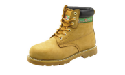 Safety wear: Hi top steel cap comfort boots sand