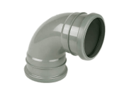 Soil pipe accessories: 92.5° double socket bend grey