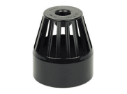 Soil pipe accessories: Vent terminal black