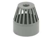 Soil pipe accessories: Vent terminal grey