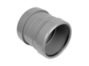 Soil pipe accessories: Double socket coupler grey