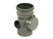 Soil pipe accessories: Soil access pipe grey
