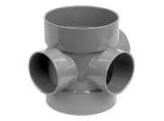 Soil pipe accessories: Soil boss pipe grey