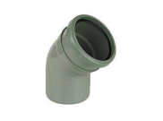 Soil pipe accessories: 135° single socket bend grey