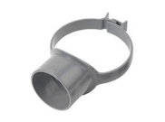 Soil pipe accessories: Strap on boss grey