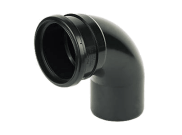 Soil pipe accessories: 92.5° single socket bend black