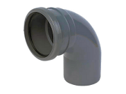 Soil pipe accessories: 92.5° single socket bend grey
