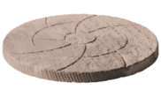 Stepping stones: Catherine wheel stepping stone Autumn brown