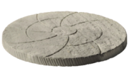 Stepping stones: Catherine wheel stepping stone Weathered slate