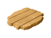 Stepping stones: Deck stepping stone barley 460mm