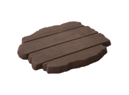 Stepping stones: Deck stepping stone brown oak 460mm