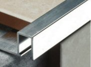 Tiling tools & accessories: Flat metal tile trim 10mm
