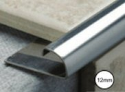 Tiling tools & accessories: Metal tile trim 12mm