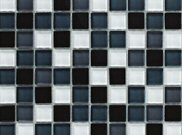 Mosaic tiles: Grey glass mosaic 300mm x 301mm