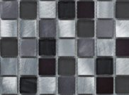 Mosaic tiles: Silver glass mosaic 305mm x 305mm