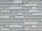 Mosaic tiles: White linear mosaic 305mm x 305mm