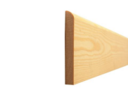 Skirting board: Bullnose skirting 71mm x 15mm x 3mtr