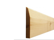 Skirting board: Chamfered skirting 96mm x 15mm x 3mtr
