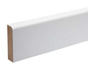 Skirting board: Bullnose mdf skirting 94mm x 15mm x 2.4mtr