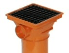 Underground drainage: Square top hopper
