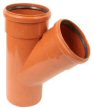 Underground drainage: 45° 2 socket equal junction