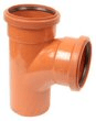 Underground drainage: 87.5° 2 socket junction